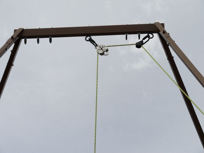 Rope Pulley System : New style portable aerial rig